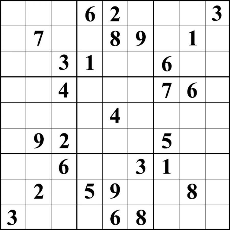 The Wayne Stater Sudoku Hard