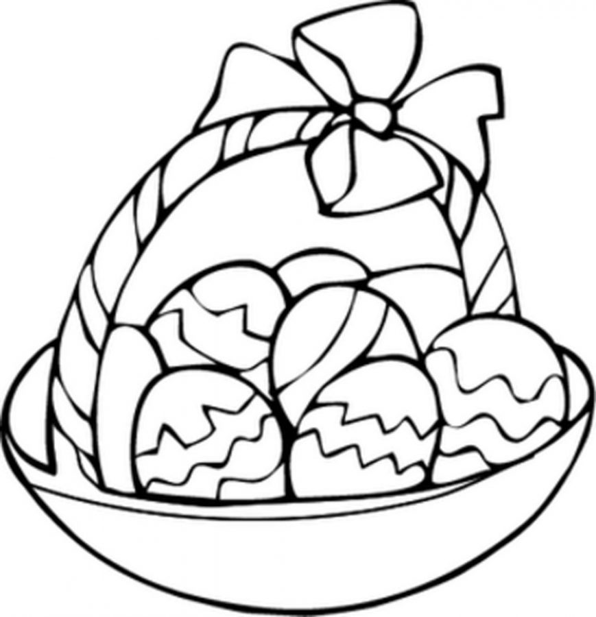 easter eggs in a basket coloring pages | The Wayne Stater : Egg Basket Coloring Page