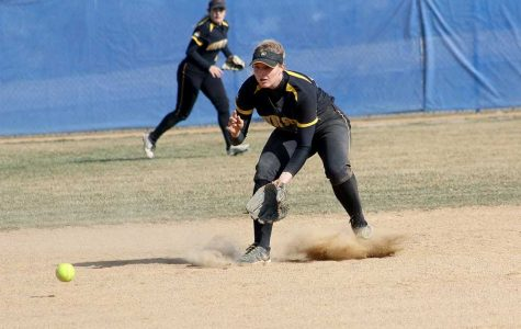 Softball splits opening double header with Augustana