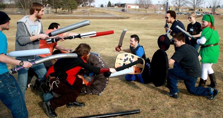Students got the chance to do some LARPing on campus this week as part of WSC's WillyCon.