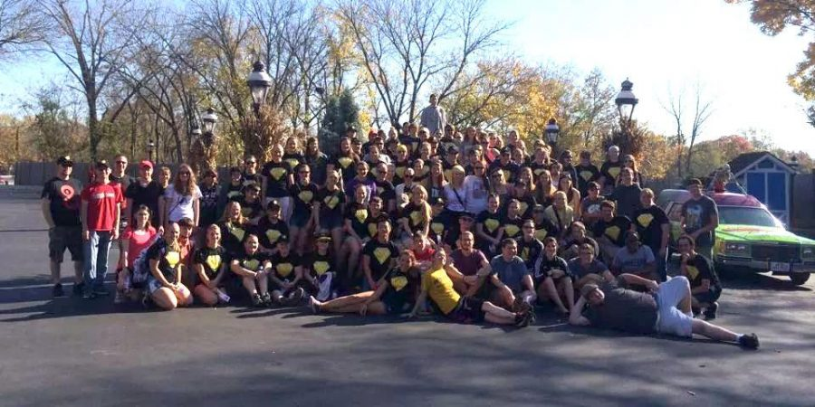 """The Pride of Wayne State Marching Band performed at NSBA in Lincoln on Saturday and spent Sunday at Worlds of Fun in Kansas City to tie up a """"super"""" marching season."""