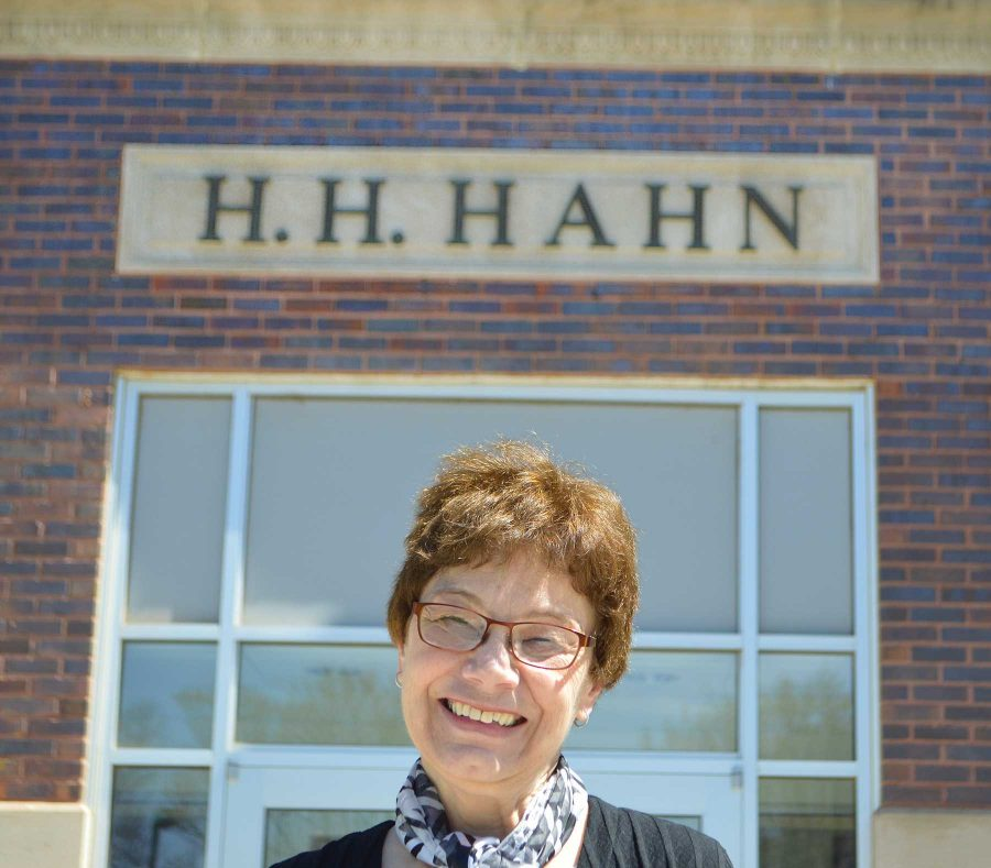 Lynette Lentz has spent the last 49 years in Hahn helping students with enrollment and more.