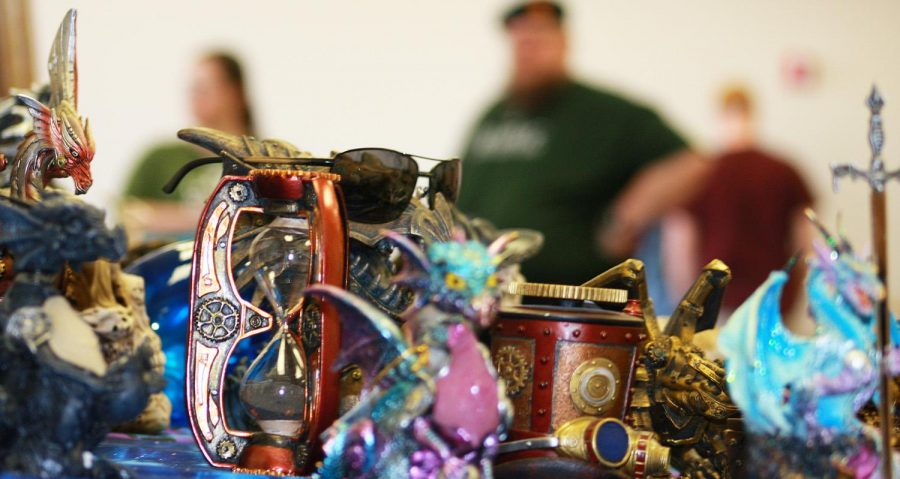 Artwork and trinkets were on sale to all those present at WillyCon XVII on Wayne State's campus.