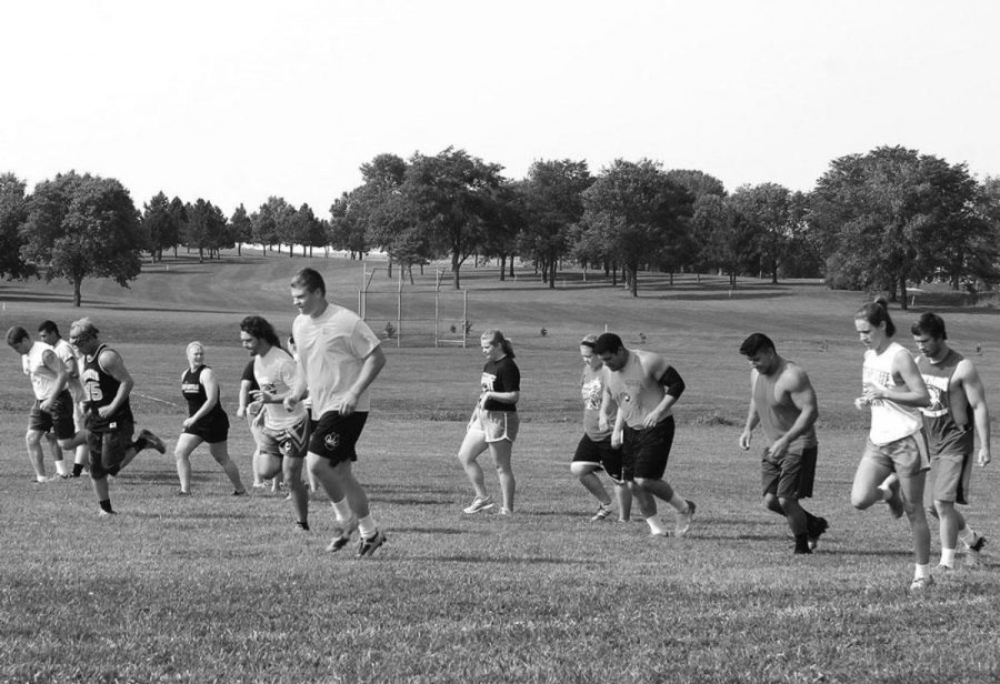 Men and Womens Rugby practice together last Monday.