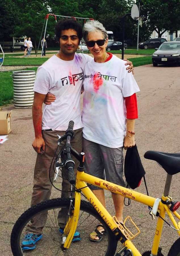 (Left) Bipul Pokhrel and (right) Dr. Barbara Engebretsen after the run for Nepal on June 6 at Victor park in Wayne.