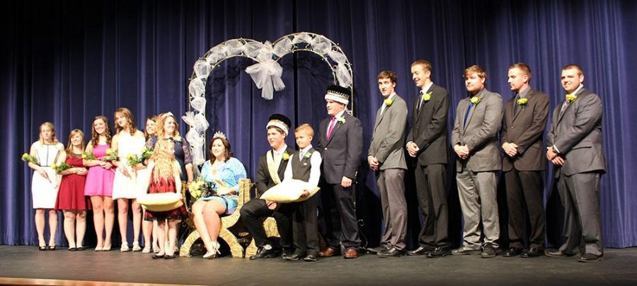 Homecoming court at Monday nights Coronation. Matthew Henery and Sarah Warga was crowned as Homecoming king and queen of 2015.