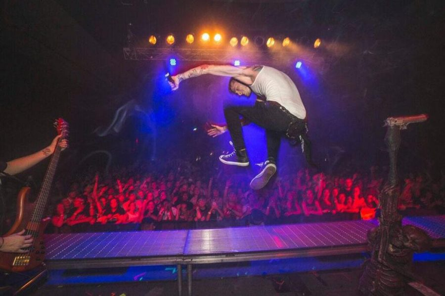 """In front of a packed crowd at the Bourbon Theatre in Linooln, Machine Gun Kelly wowed his fans with a high energy performance that is helping promote his new album, """"General Admission."""""""