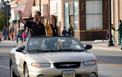 Dr. Rames and her husband led as the first float in the parade on Saturday.
