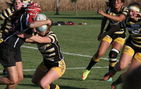 """Women's rugby keeps dominating on the field as they play the UNL Huskers on Saturday's """"Fill the Hill"""" games. The team continues to be undefeated in the season."""
