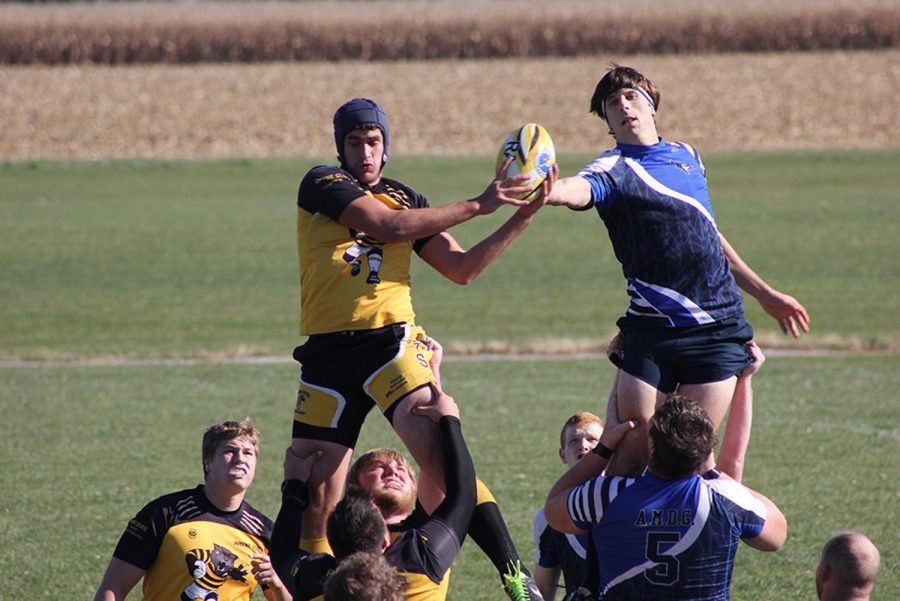 WSC battles Creighton Universeity for possesion during a line out in last weekend's game.