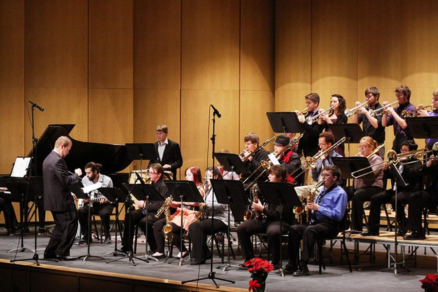 WSC Big Band, under the direction of Dr. Josh Calkin, performed on Monday, Dec. 6 in Ramsey Theatre.