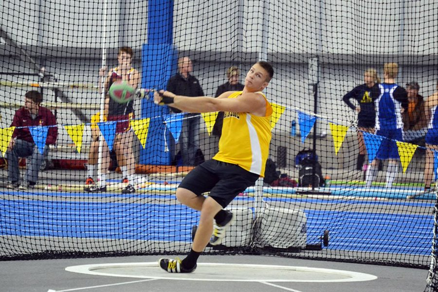 This years thrower to watch, Bryan Dunn, beat his marks from last season by almost three inches in the weight throw. The toss landed him a NCAA provisional mark.