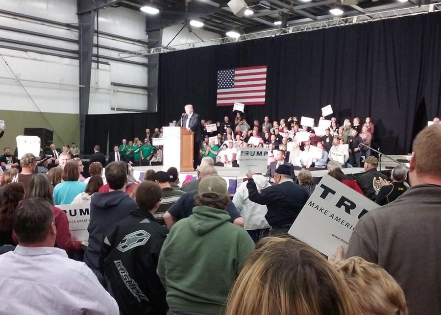 """Republican presidential candidate Donald Trump visited Spencer, Iowa last weekend. Many packed into the Event Center to hear Donald Trump's plan to """"Make America Great Again."""""""