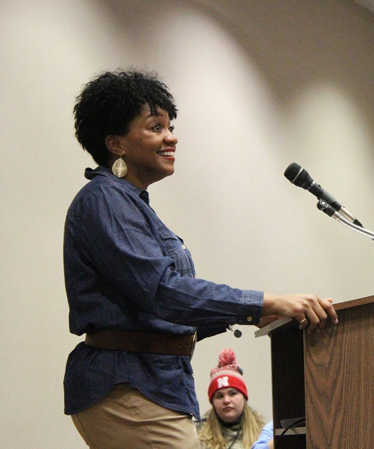 Treyla Lee, a WSC graduate, spoke at Martin Luther King Jr. Day. She discussed issues in today's society that deal with equality.