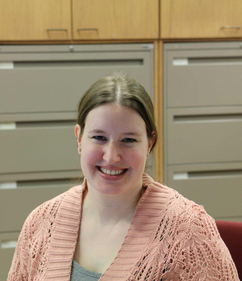 Erin Suckstorf is an office assistant in Gardener Hall.