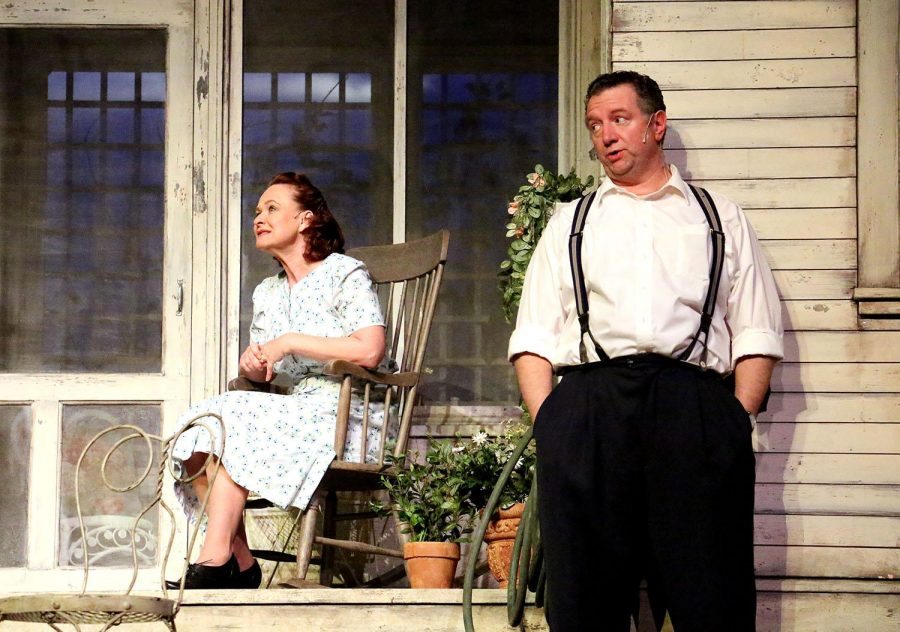 Laurie Dawn and Mike Boland played Kate and Joe Keller in the Montana Repertory Theatres' performance of 'All My Sons' last Thursday in Ramsey Theatre.