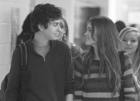 """Rusty (Nat Wolff) and Kate (Liana Liberato) struggle with their first relationship in the 2012 movie """"Stuck in Love."""""""