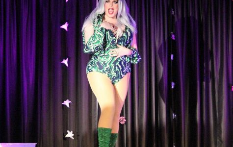 Kharizma Valentine (Elle Barts) works the stage at WSC PRIDE's Cancer is a Drag Show on Wed. March 2.