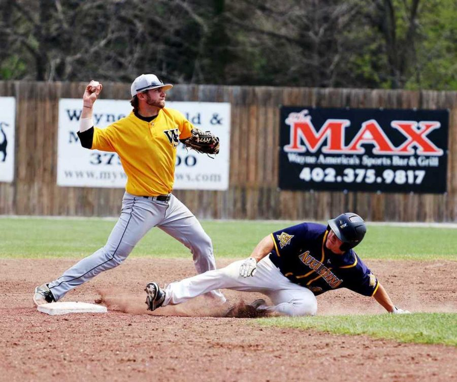 Brandon Fowler turns a double play against Augustana last Friday. Augustana took the sweep for the four-game series against the Wildcats.