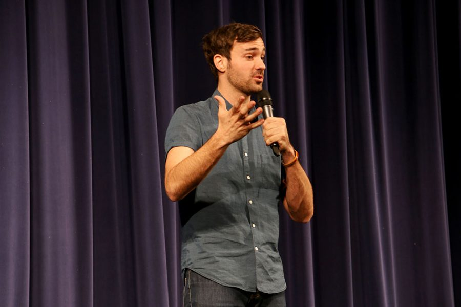 Comedian Jeff Dye brought laughs to Wayne last Thursday when he preformed for students in Ramsey.