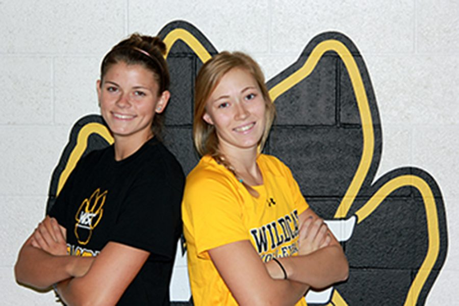 Wildcats Tarrin Beller and Alyssa Frauendorfer both come from the small town of Humphrey. This is Beller's first year at Wayne State, while Frauendorfer is a senior.