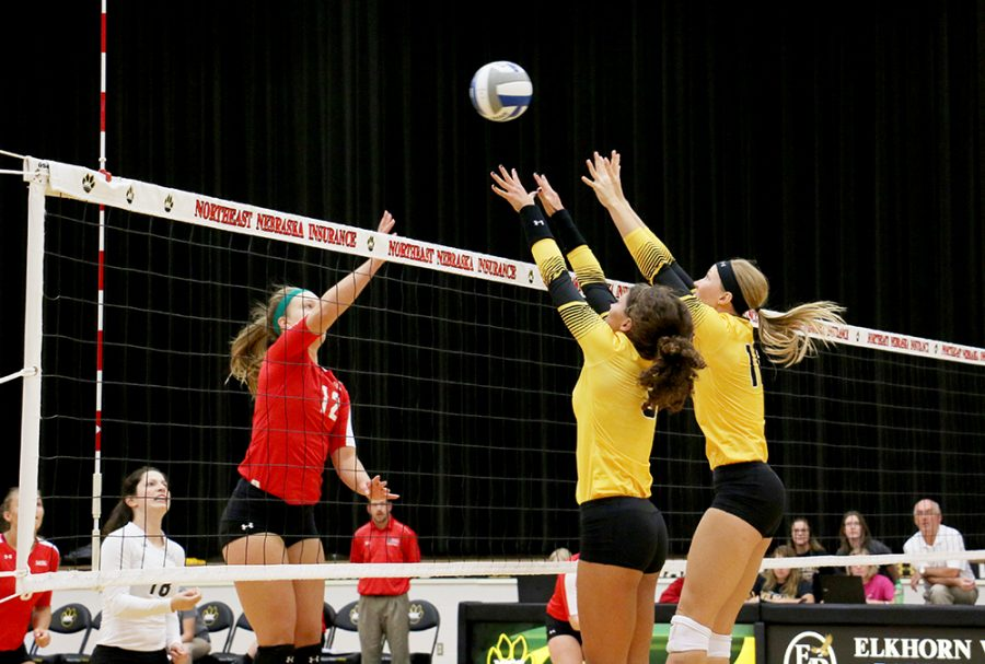 WSC volleyball takes two sweeps for the weekend against Minot State and University of Mary, moving the 'Cat's record up to 12-3 for the year. Last night the volleyball program hosted its 11th annual Blackout against Chadron State.