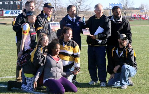 On Saturday, Rod Tompkins (back row, second from left) was awarded the Program Development of the Year in North America. Tompkins has been key in the rugby program in helping fund Wayne Rugby Park when it was being built and also when it was being rebuilt after the tornado in October 2013.