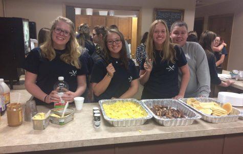Annual pancake feed helps sisters