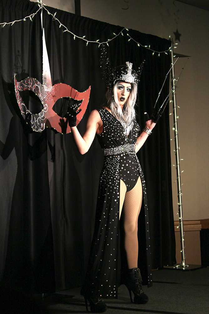 Autumn Quinn performing in one of her many drag outfits.