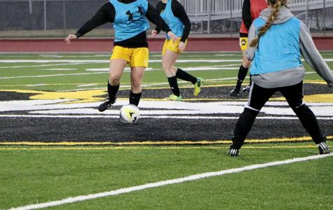 Women's soccer faces off against former players
