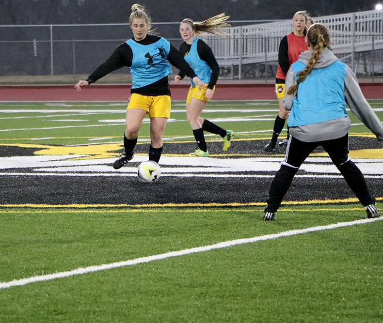 The Wayne State women's soccer team invited alumni to come play a match after their spring game was canceled. The match was shortened due to weather. The lone goal was on a strike by sophomore Brooke Buzzle. Mikayla (Comba) Polk provided the assist. the match ended with the score 1-0