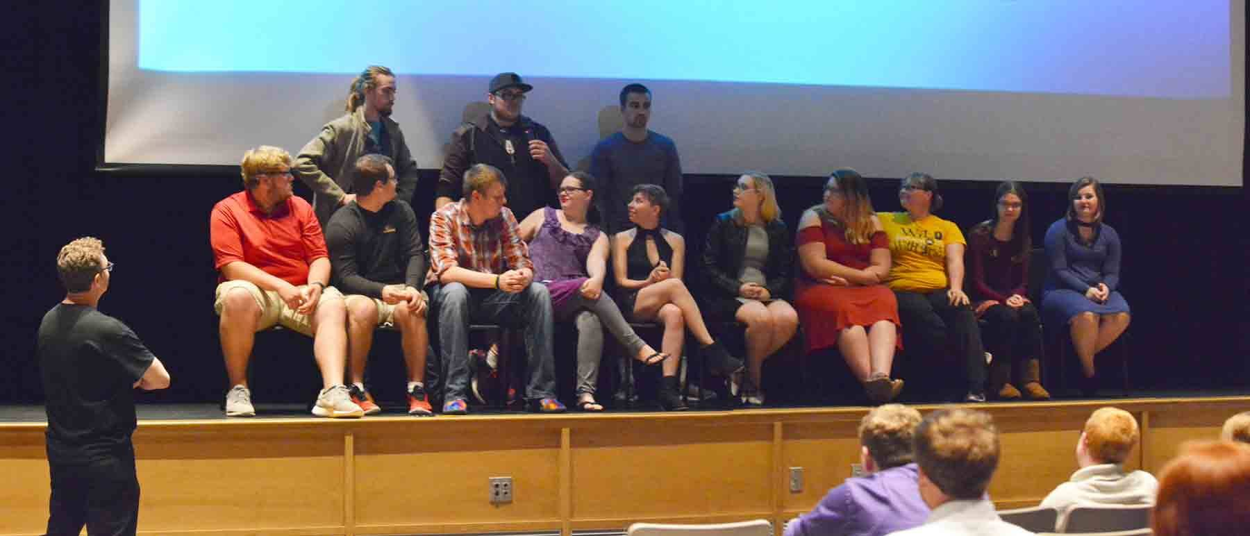 After each film was shown, the cast and crew answered questions from the audience.