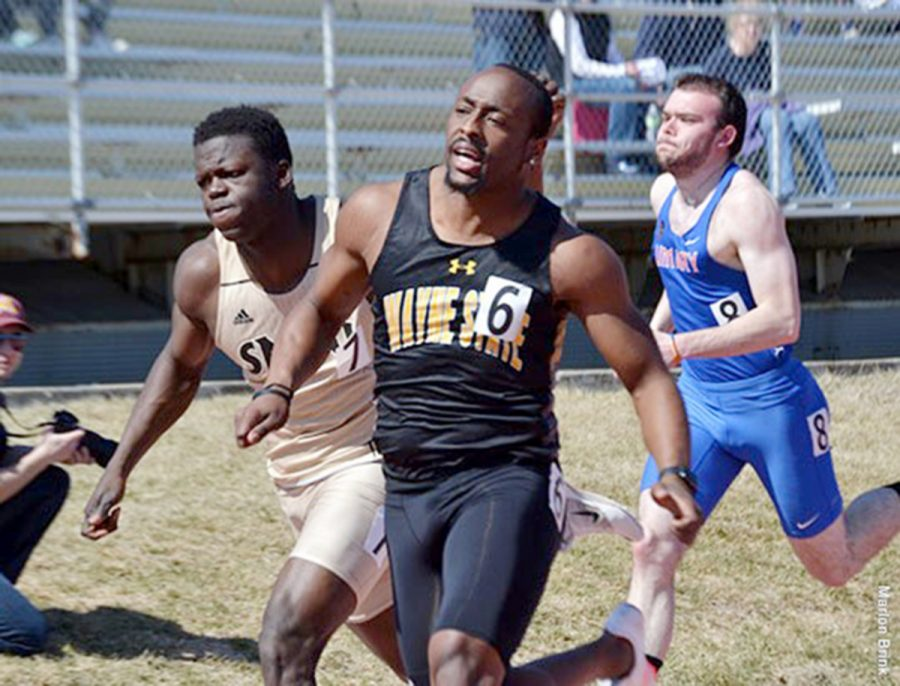 Braxton+Adams+sprints+toward+his+first+place+finish+in+the+100-meter+dash.+Adams+was+also+part+of+the+first+place+4x100-meter+relay++team+at+the+SMSU+Open+in+Marshall%2C+Minn.