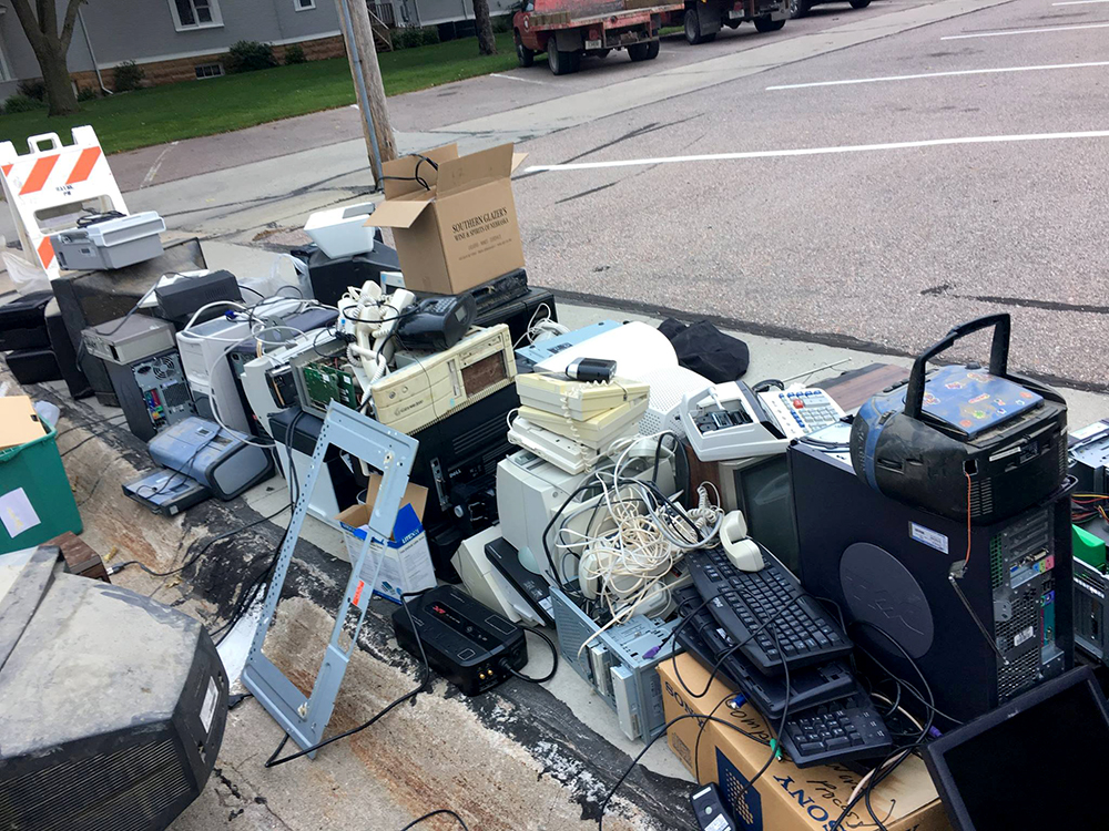 Wayne held a citywide recycling event last week, accepting all kinds of electronics.