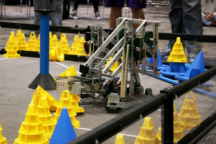 Students+from+around+the+area+participated+last+Wednesday+in+WSC%27s+robotics+competition.+The+robots+had+to+accomplish+various+tasks+and+were+judged+on+whether+or+not+the+task+was+accomplished.