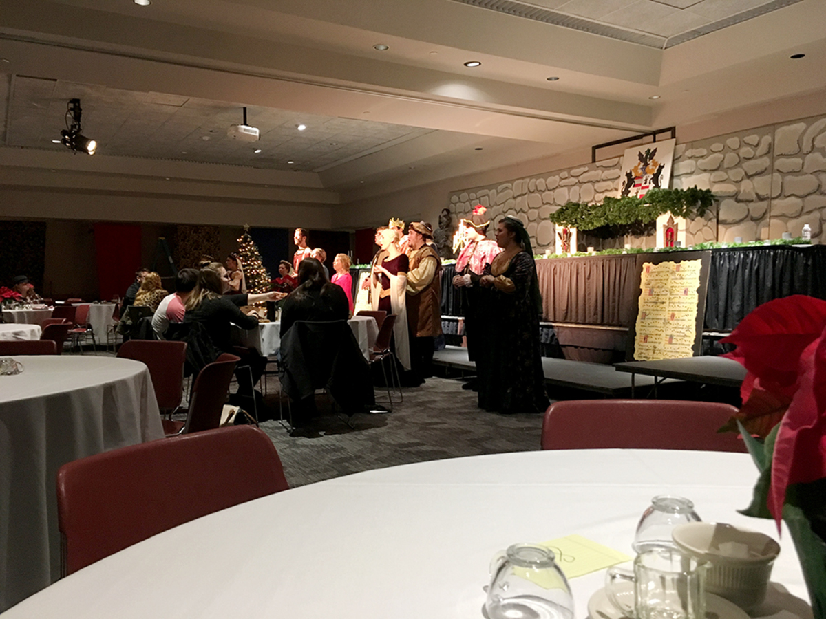 The 46th annual Madrigal Dinner, directed by Matthew Armstrong, took place this past weekend in the Kanter Student Center.
