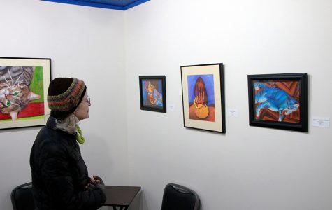 Featured artists visit student exhibit