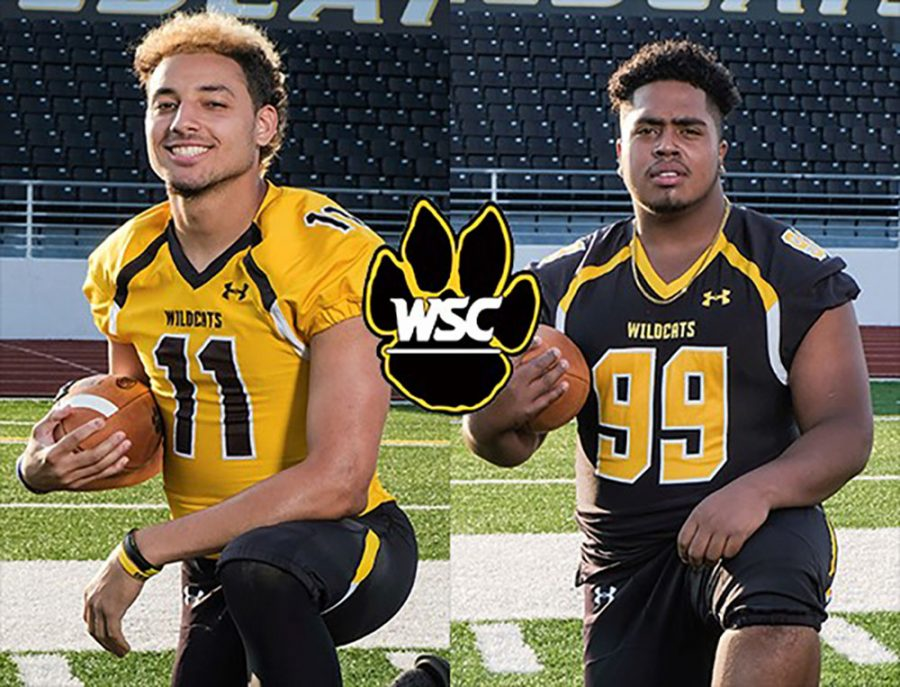 Senior receiver Nate Rogers and senior defensive lineman Xavier Graham have been listed as players to watch for the 2018 season. Photo courtesy of WSC