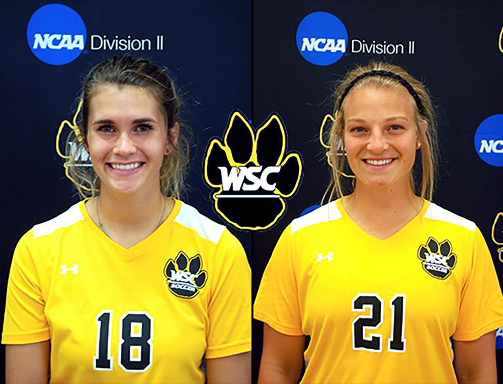 Seniors Christina Stassi and Natalie Rech are players listed to watch for the 2018 season. Photo courtesy of WSC.
