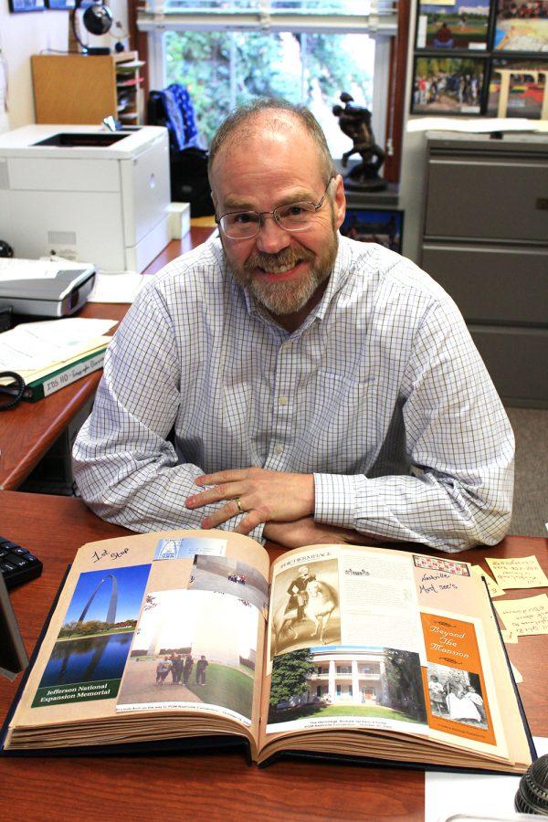 Photos by Julia Baxter, Photo Editor Dr. Randy Bertolas in his office