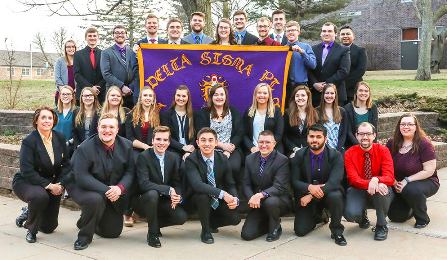 Delta Sigma Pi is a national business fraternity. WSC's chapter was awarded the Chapter of Excellence award for last year.