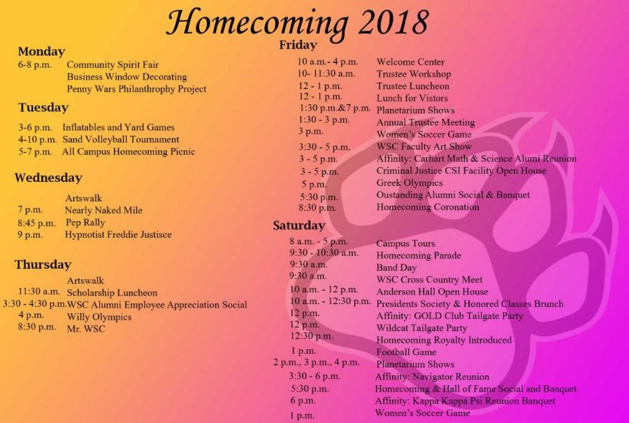 WSC Homecoming: 'Dare to Roar'