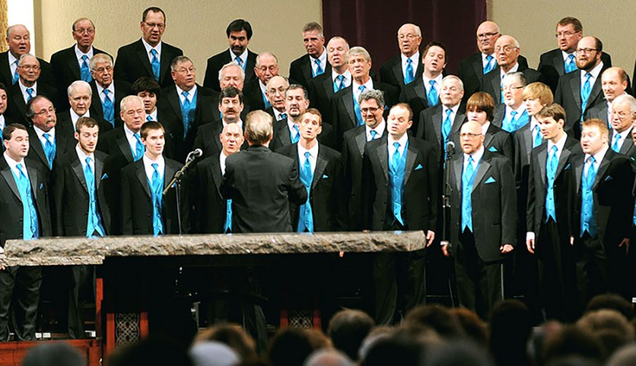 The Pathfinders Chorus performed in Ramsey Theater on Saturday. The chorus is a male a capella group that sings a wide variety of songs.