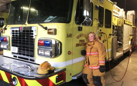 Montana Hill is a junior here at Wayne State. She is a volunteer on the Wayne Fire Department.