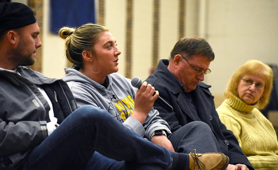 WSC students came to the mental health panel on Monday put on the Student Athletics Advisory Committee in Rice Auditorium.