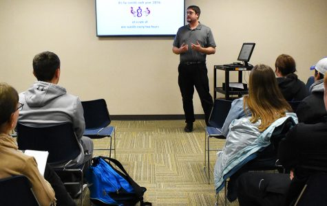 WSC Students met in the Bluestem Room in the Kanter Student Center last Thursday to learn about how to help prevent suicide.