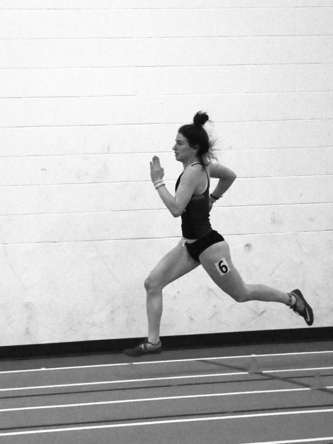 Freshman Molli Vasa laced third overall in the women's 600-meter run Saturday in Crete.