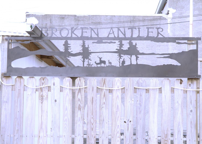 Broken Antler in downtown Wayne