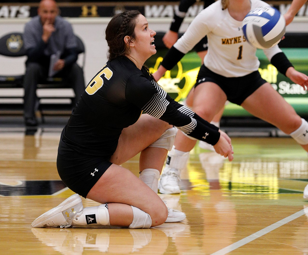 Maddie Duffy is a sophomore defensive specialist for the Wayne State College volleyball team.