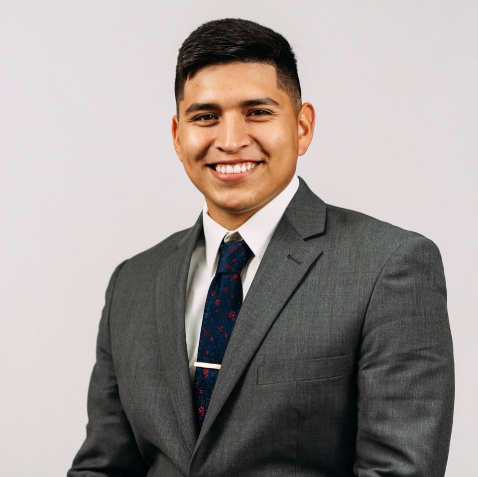Jorge Adame, Student Senate President elect.